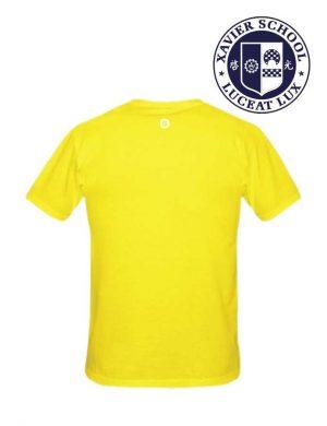 mighty sports xavier i love xs yellow tee back