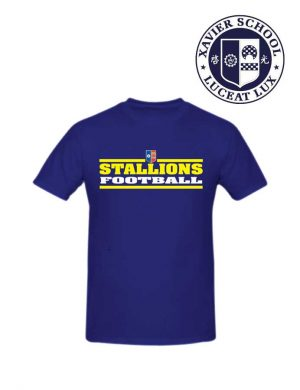 mighty sports xavier stallions football blue front