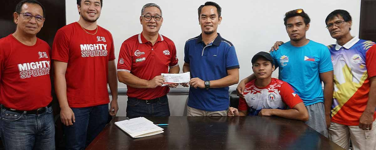 mighty sports donates to philippine paralympic committee | caesar wongchuking