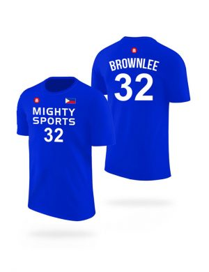 mighty sports justin brownlee tee blue
