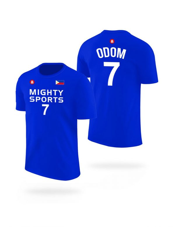 mighty sports lamar odom tee blue