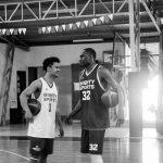 juan gomez de liano, justin brownlee chatting   mighty sports   alexander wongchuking, caesar wongchuking