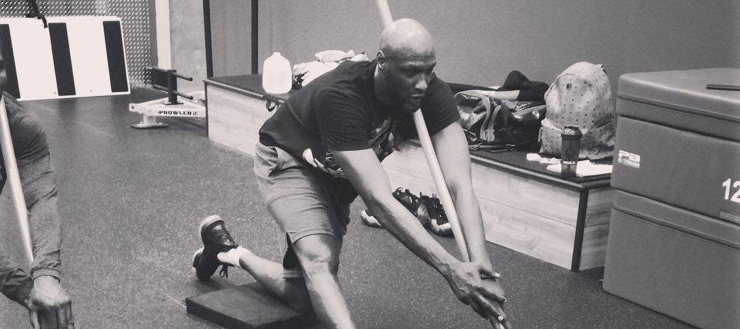 lamar odom working out mighty sports dubai 2019