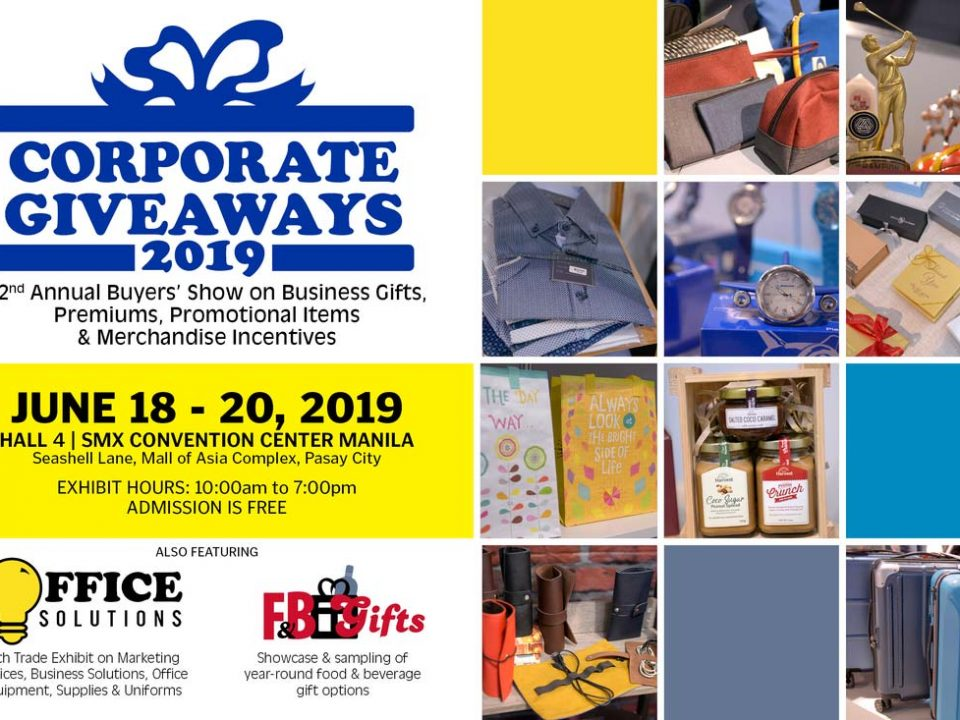 corporate giveaways 2019 poster