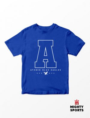 mighty sports x ateneo a tee front