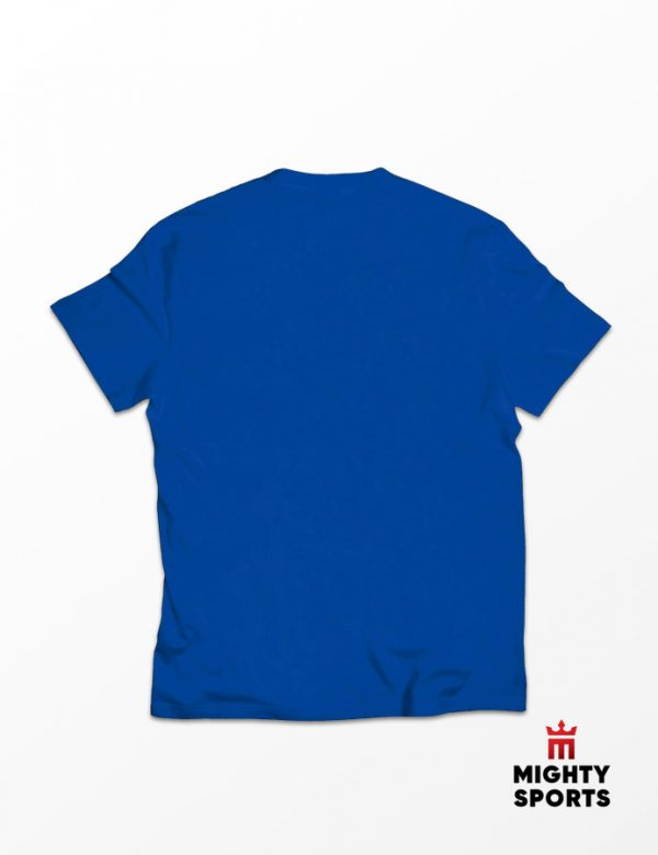 mighty sports blue tee back