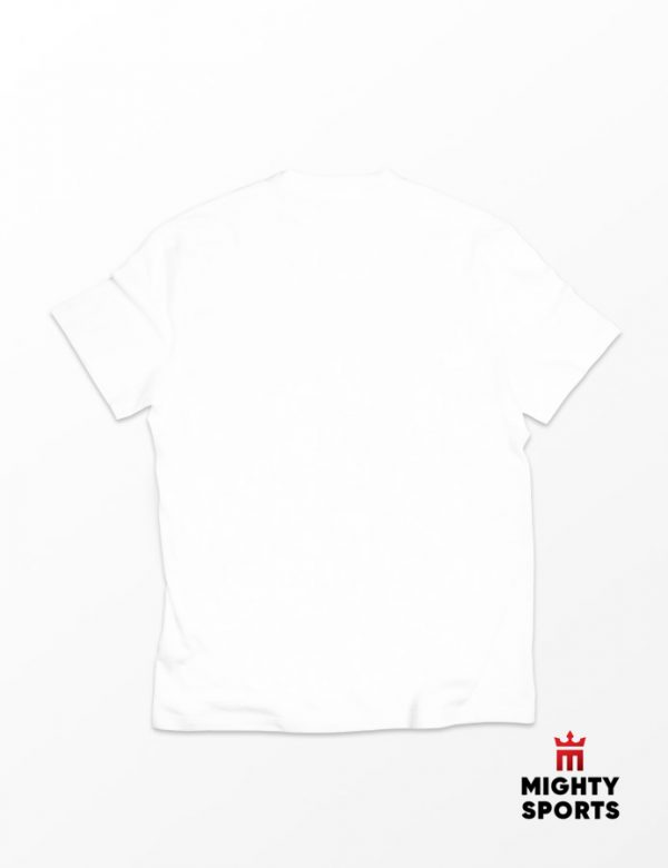 mighty sports white tee back