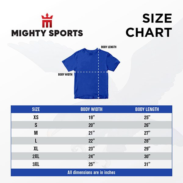 mighty sports x ateneo size chart