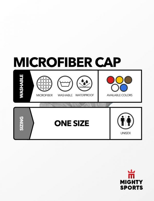 mighty sports ppe microfiber cap specs