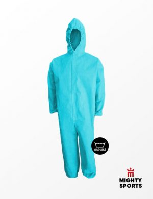 mighty sports ppe hazmat coveralls sky blue