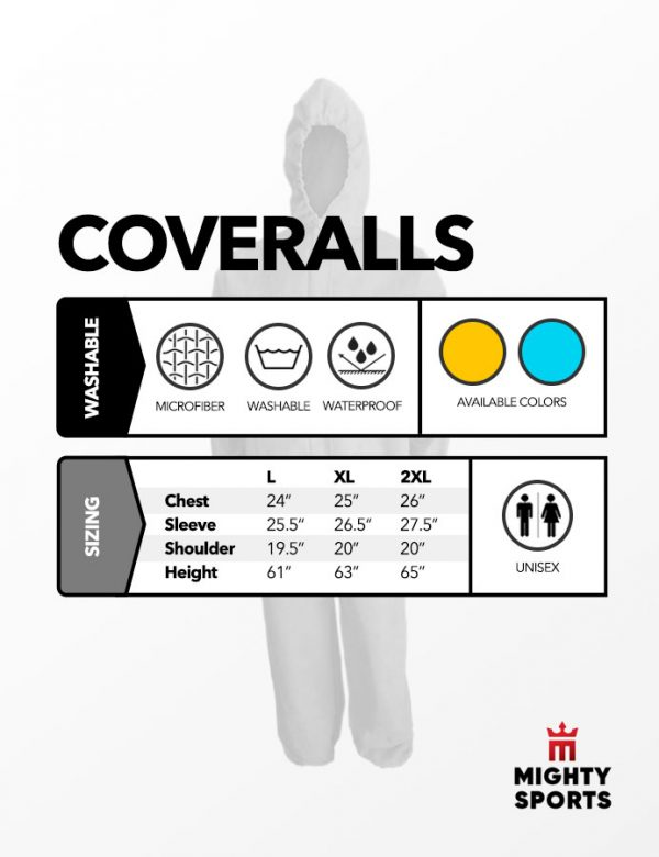 mighty sports ppe hazmat coveralls specs