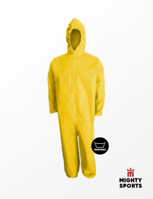 mighty sports ppe hazmat coveralls yellow golde