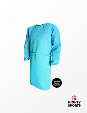 mighty sports ppe washable lab gown sky blue