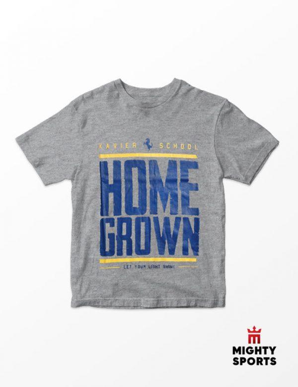 xshop xavier school homegrown tee gray