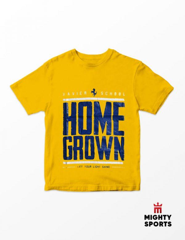 xshop xavier school homegrown tee yellow