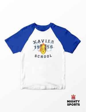 xshop xavier school raglan blue/white